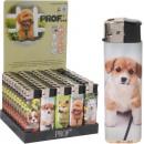 Feuerzeug süße Hunde sortiert im Display