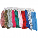wholesale Scarves & Shawls: Scarf 160x32cm  Colors / Patterns sort. 100% Polyes