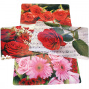 groothandel Tafellinnen: Placemat 4  geassorteerde rozen, vinyl