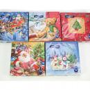 Napkins with Christmas themes 20s