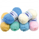 wholesale Haberdashery & Sewing: Sorted wool 50g pastel colors 5x