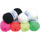 wholesale Haberdashery & Sewing: Wool neon colors  50g, 6 assorted colors
