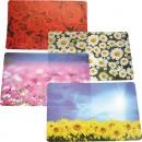 Tischset PP Blumen Motive, sortiert