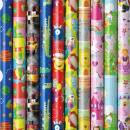 Gift paper roll 2m, children motifs
