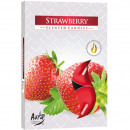 Teelichte fragrance 6 strawberry in colored Verpac