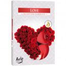 Teelichte parfum 6 amour dans un emballage de coul