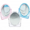 grossiste Miroirs: Miroir support  13X10 cm ovale 2Pages