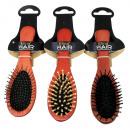Wooden massage hair brush 18 cm by 3-fold