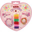 wholesale Hair Accessories: Hair Accessories  Set 24-piece heart card