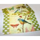 grossiste Linge de table: Set de table avec  les oiseaux et les papillons,