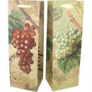 mayorista Regalos y papeleria: bolsa de regalo  motivo botella tipo. 35x12x10cm