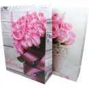 grossiste Cadeaux et papeterie: Sac cadeau XL  34,5x25x8,5cm Rose Conception,