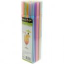 groothandel Huishoudwaren: Rietjes 100 pastelkleuren 21cm