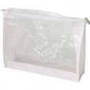 Großhandel Taschen & Reiseartikel: Kosmetiktasche XL  23x18x5,5cm transp. weiß