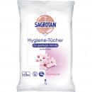 Sagrotan hygiene wipes 12 pieces with a fresh scen