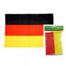 grossiste Gadgets et souvenirs: Drapeau Fan  Allemagne 90x150cm avec 2 métal