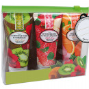 wholesale Bags & Travel accessories: Shower gel 3 x  65ml packed in fruit tubes in a bag