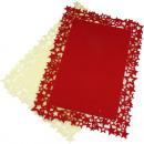 groothandel Tafellinnen: Placemat gemaakt  van dik vilt 40x30cm met stergren