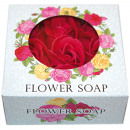 wholesale Drugstore & Beauty: Flower Rose Soap 9,5x4,5cm, 9 roses,