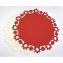 groothandel Tafellinnen: Placemat gemaakt  van dik vilt 34x5mm in beige en r