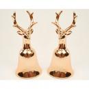 groothandel Home & Living: Luxe bel elanden  XL 12,5x5,5cm kwaliteit goud gl