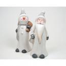 Kerstman 15cm en 16cm Sneeuwman XL, erg mooi met