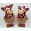 mayorista Juguetes: Elk XL con piel de  peluche y algodón bufanda 13,5x