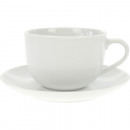 wholesale Cups & Mugs: Porcelain cup  incl. Saucer white 200ml