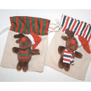 wholesale Toys: Elk on bag, 2-  times assorted 11x13x5cm very li
