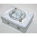 Metal box with 3D angel 16x11x6cm square, great gl