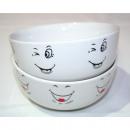 grossiste Plats: visage souriant  bol de céréales 500 ml, 2 fois sor