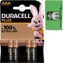 groothandel Batterijen & accu's: Batterij Duracell Plus Alkaline AAA 4p