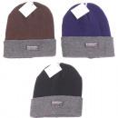 wholesale Headgear: Winter Men's  Hat Knit 3 Colors assorted