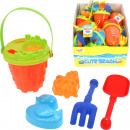 wholesale Toys: Sand-bucket Set 6  pieces in a net bucket 12,5x13cm