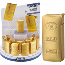 wholesale Lighters: Lighter electric  metal gold bars in the Display
