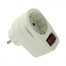 wholesale Electrical Installation: Distribution plug  1er cordless, white with switch