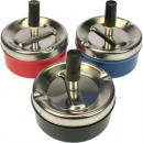 Ashtray wind 9,5x4,5cm 3 colors assorted