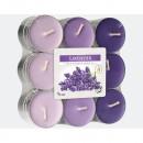 groothandel Kaarsen & standaards: Waxinelichtjes  geurende lavendel 18er in blok pak