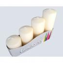 candele pilastro set di 4 4 formati assortito crem