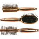 bronze métallique brosse à cheveux 18.5cm 3 fois a