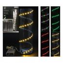 grossiste Chaines de lumieres: Lanterneau 60 LED,  auto-adhésif, 4 tri par couleur