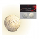 wholesale Toolboxes & Sets: LED ball 5cm, set  of 2! Vinyl, warm white