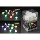 Light string LED ball, vinyl, RGB color change,