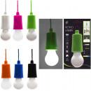 LED retro lamp, plastic, 6 colors assorted