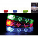 LED bracelet made  of plastic and metal, 3 colors