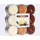 Großhandel Home & Living: Teelichter Vanille  18er Pack, 3 Far-ben sortiert,