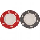 wholesale Crockery: Stardesign plate  20cm made of finest ceramics, red