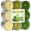 Waxinelichtjes geurende 18er Groene thee in blok P