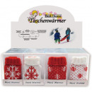 wholesale Wellness & Massage: Pocket warmer  snowflake 12x7cm in 24 Display