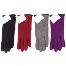 wholesale Fashion & Apparel: Winter ladies'  glove Jersey 4 colors assorted